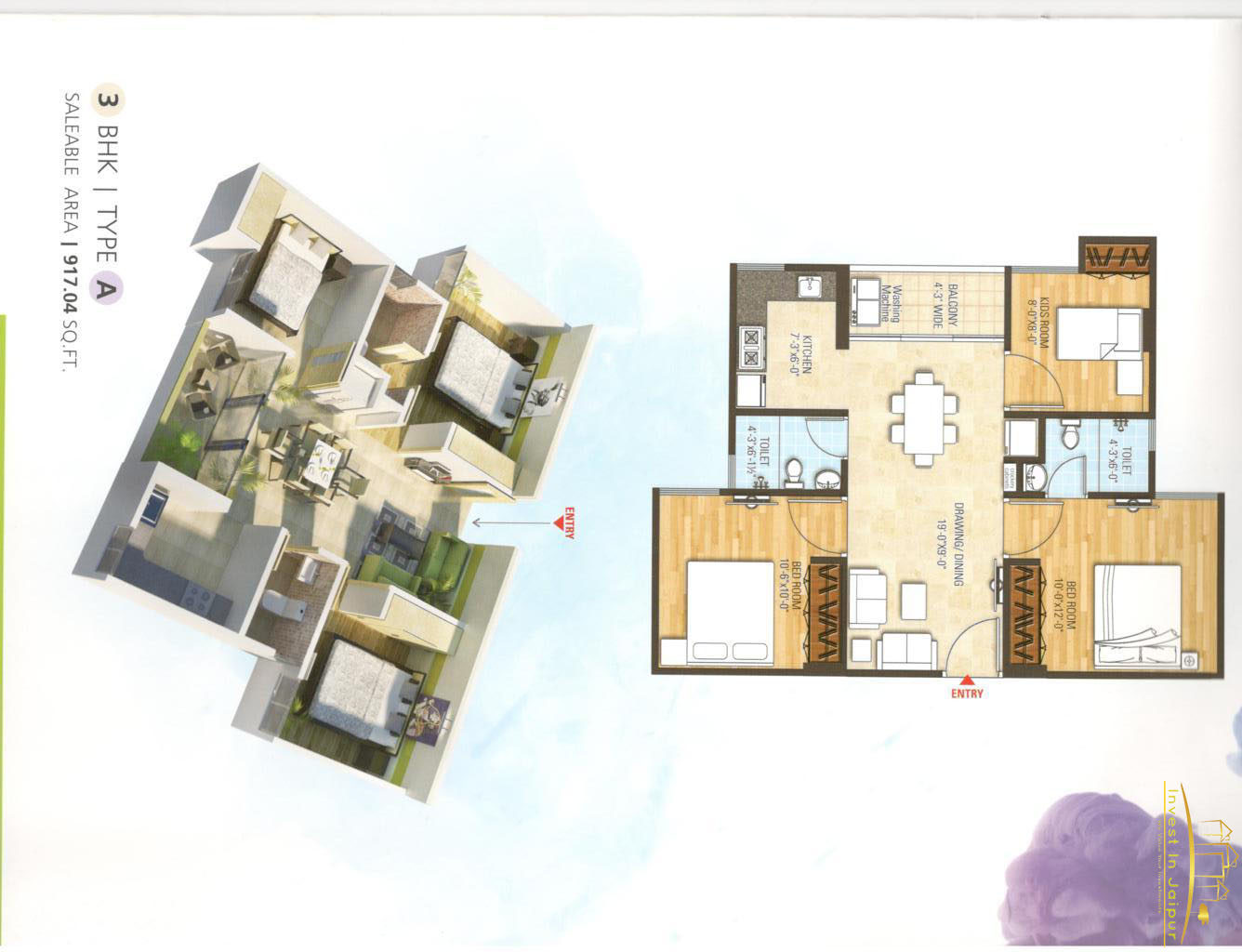 Bony Dreams 3 BHK (A)